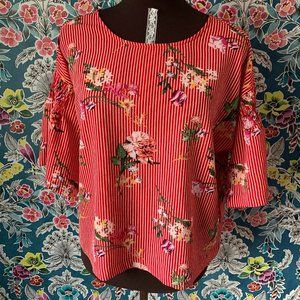 Twine & string red floral top